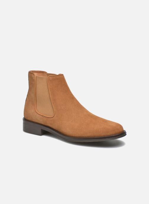 Bottines et boots Schmoove Woman Newton chelsea suede Marron vue détail/paire