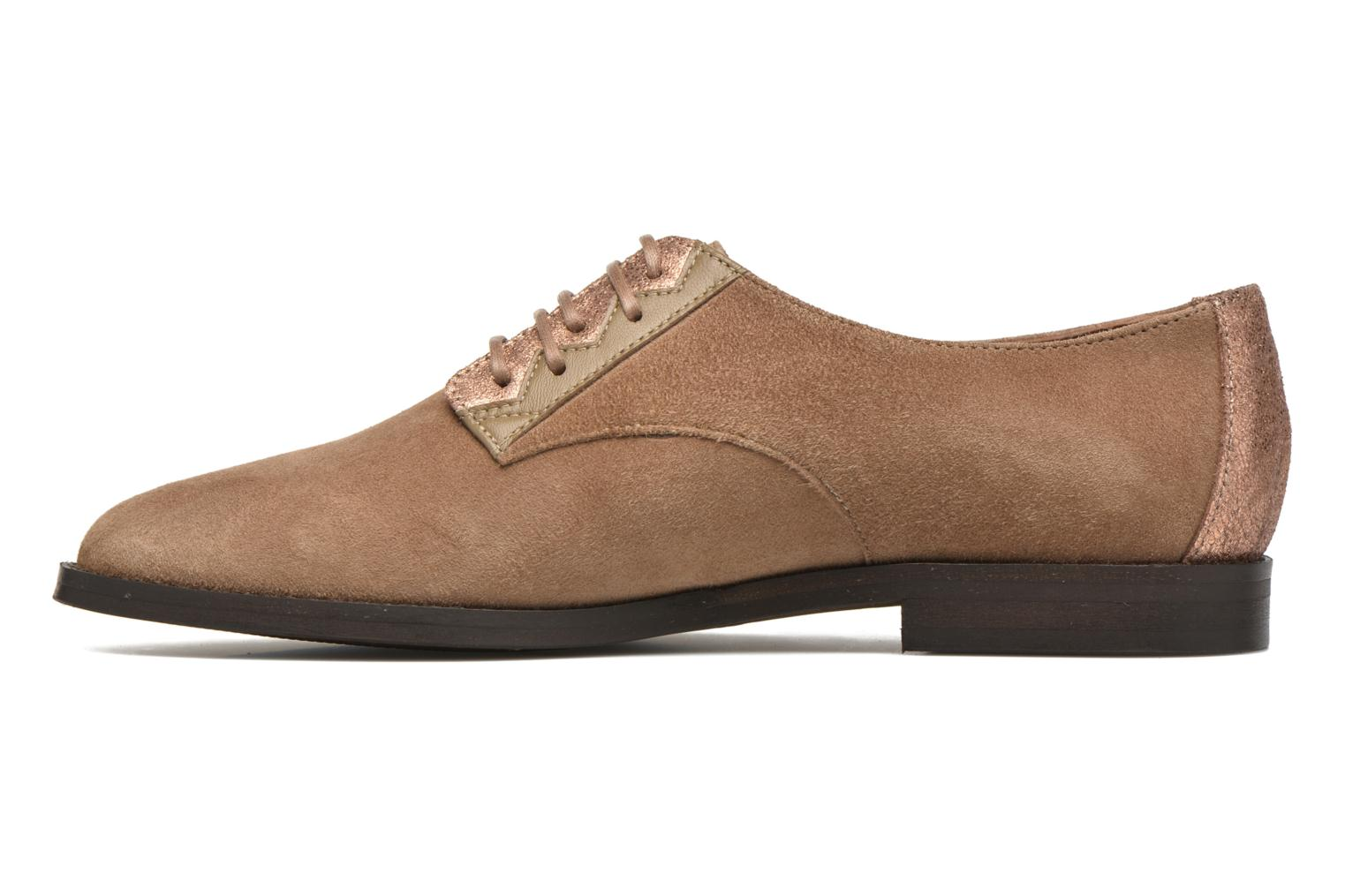 Lace-up shoes Schmoove Woman Galaxy kid suede Brown front view