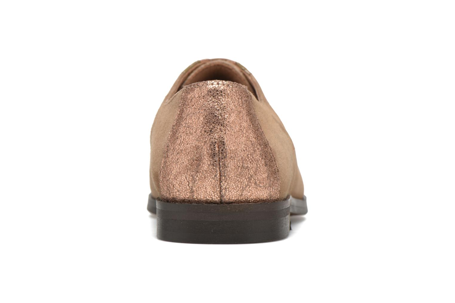 Lace-up shoes Schmoove Woman Galaxy kid suede Brown view from the right