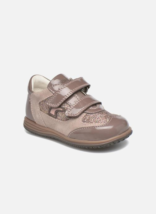 Velcro shoes Primigi Ghigo 7 Brown detailed view/ Pair view
