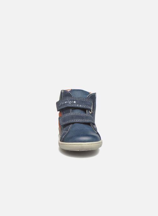 Chaussures à scratch Primigi Jordan 1 Bleu vue portées chaussures