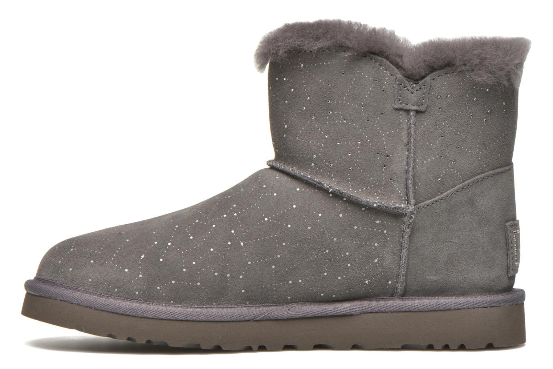 Bottines et boots UGG W Mini bailey button bling constellation Gris vue face