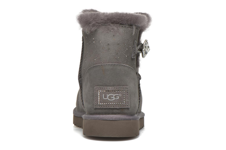 Bottines et boots UGG W Mini bailey button bling constellation Gris vue droite