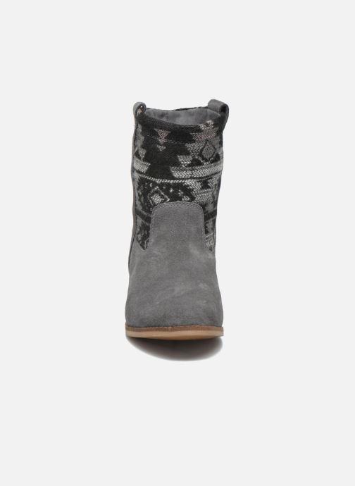 Bottines et boots TOMS Laurel pull-on boot Gris vue portées chaussures