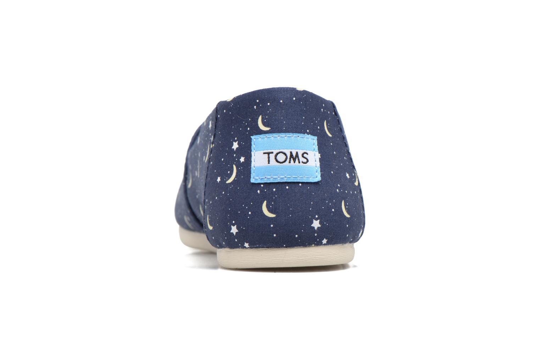 Mocasines TOMS Seasonal classics W Azul vista lateral derecha
