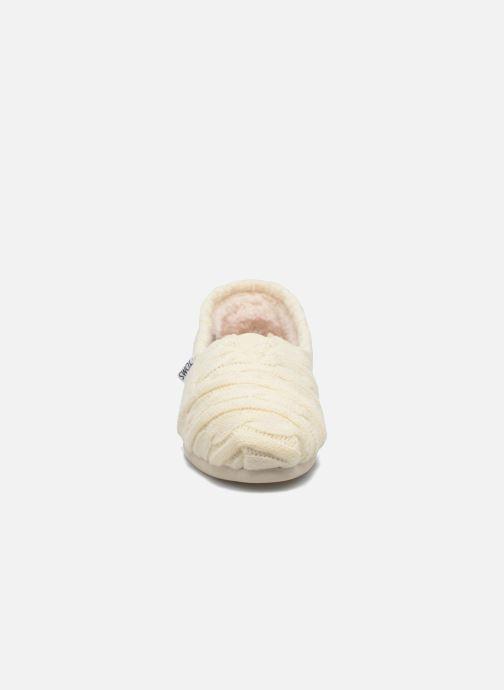 Mocassins TOMS Seasonal classics knit Blanc vue portées chaussures