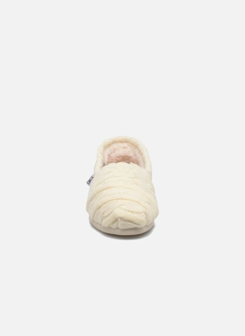 Slipper TOMS Seasonal classics knit weiß schuhe getragen