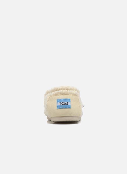 Mocasines TOMS Seasonal classics knit Blanco vista lateral derecha