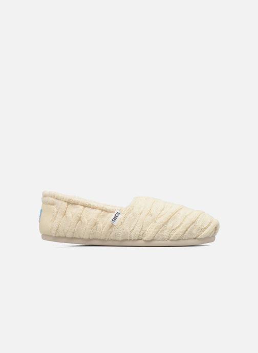 Mocassins TOMS Seasonal classics knit Blanc vue derrière