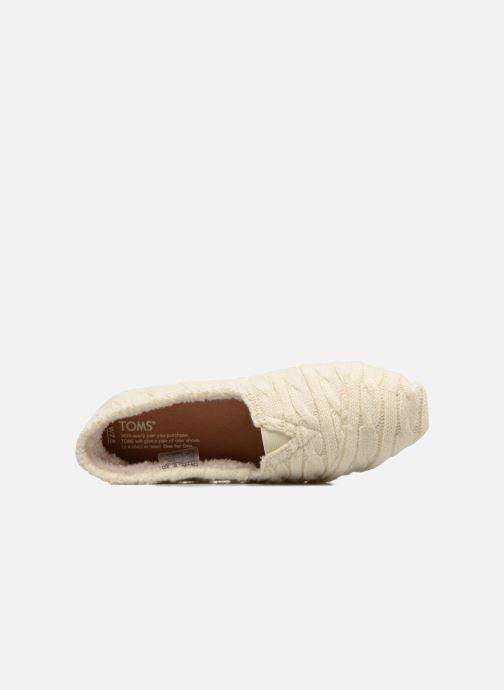 Mocassins TOMS Seasonal classics knit Blanc vue gauche