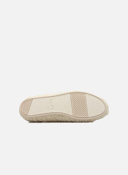 Loafers TOMS Seasonal classics knit White view from above