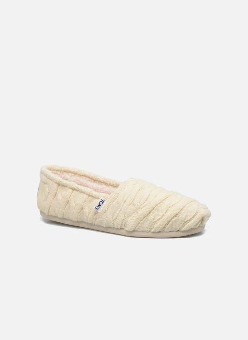 Mocassins TOMS Seasonal classics knit Blanc vue détail/paire