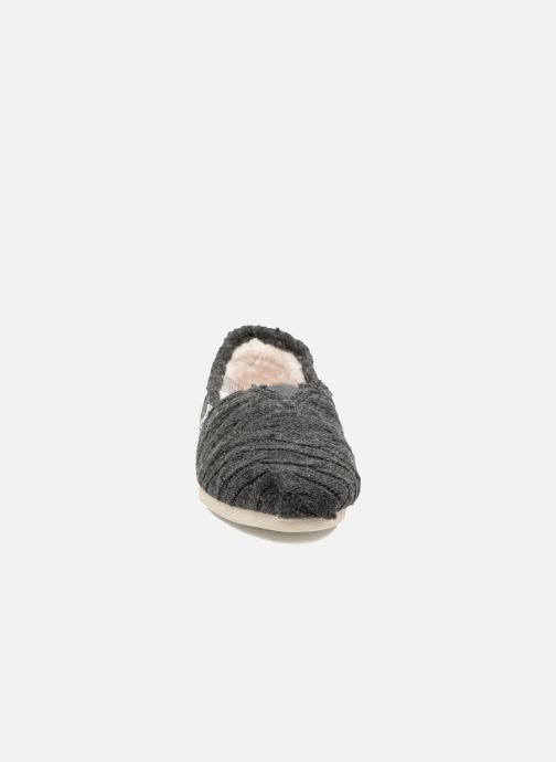 Slipper TOMS Seasonal classics knit grau schuhe getragen