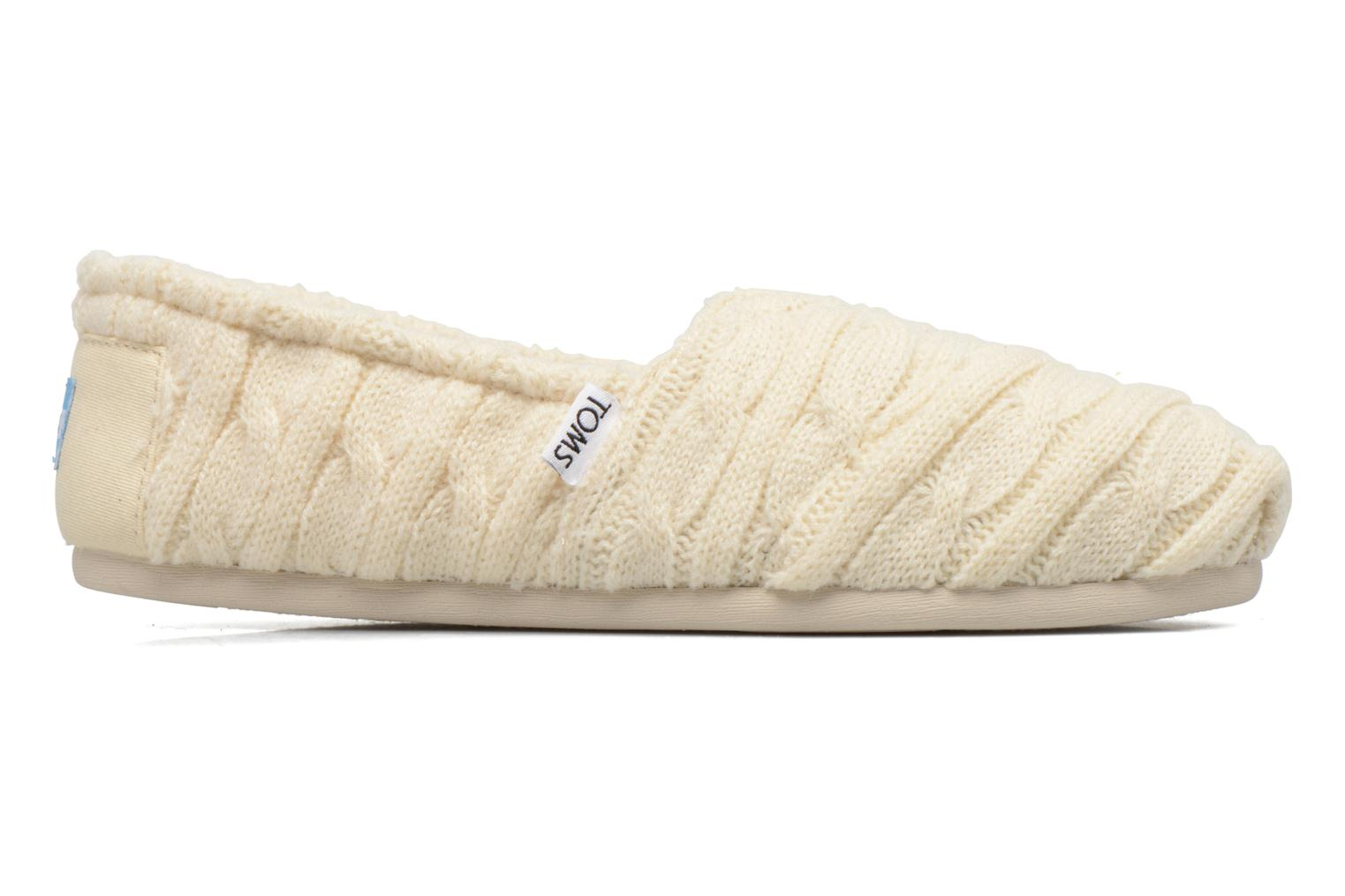 Loafers TOMS Seasonal classics knit White back view