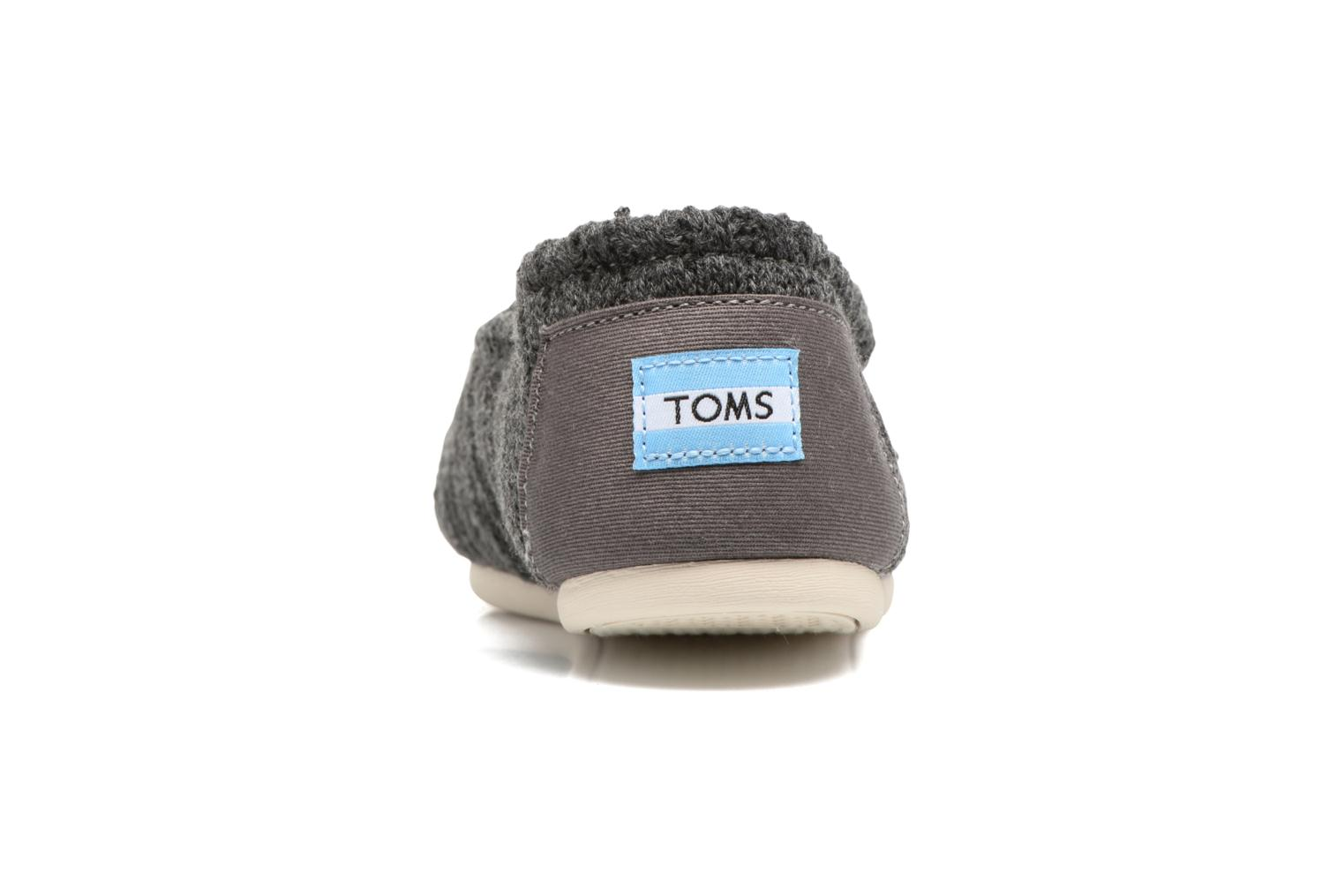 Loafers TOMS Seasonal classics knit Grey view from the right