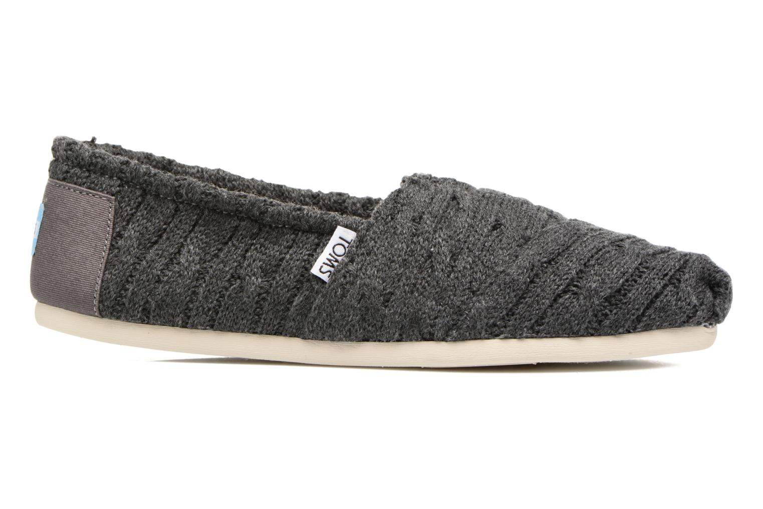 Loafers TOMS Seasonal classics knit Grey back view