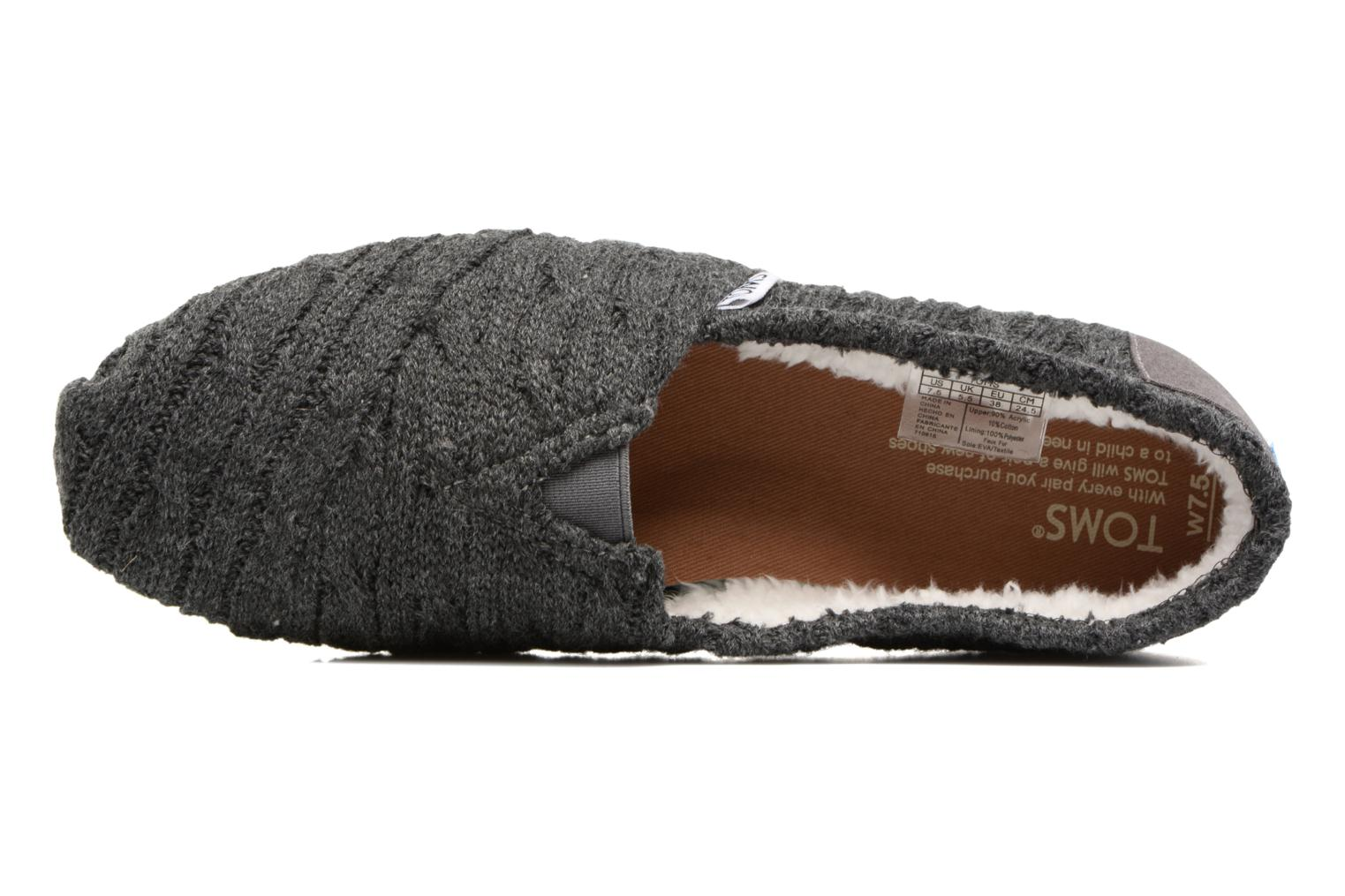 Slipper TOMS Seasonal classics knit grau ansicht von links