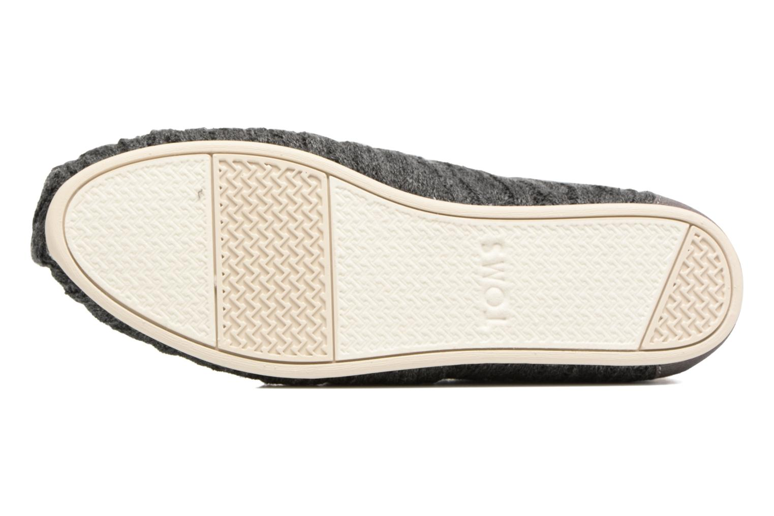 Loafers TOMS Seasonal classics knit Grey view from above