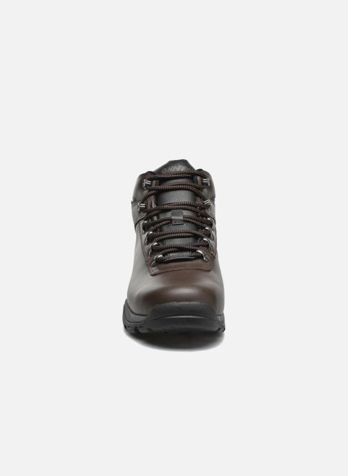 Chaussures de sport Hi-Tec Eurotrek 3 Wp Marron vue portées chaussures