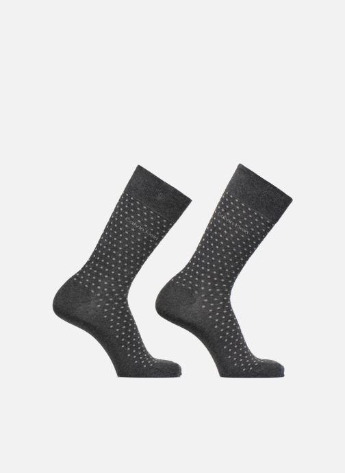 Chaussettes et collants Calvin Klein Chaussettes Homme Coton Pack de 2 Pois Unie Gris vue détail/paire