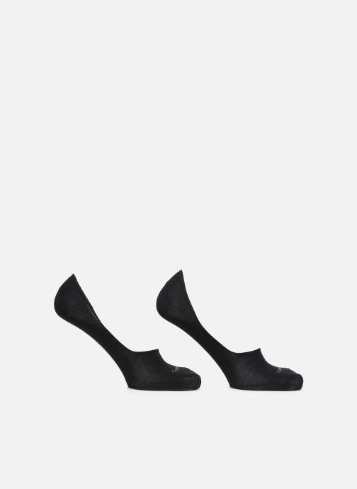 Chaussettes et collants Calvin Klein Lot de deux paires de Chaussettes Invisibles Unies - Black Noir vue détail/paire