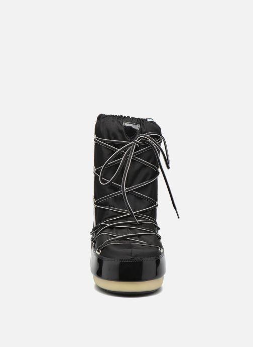 Stiefel Moon Boot Training schwarz schuhe getragen
