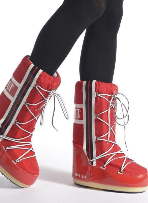 Stiefel Moon Boot Training lila ansicht von unten / tasche getragen