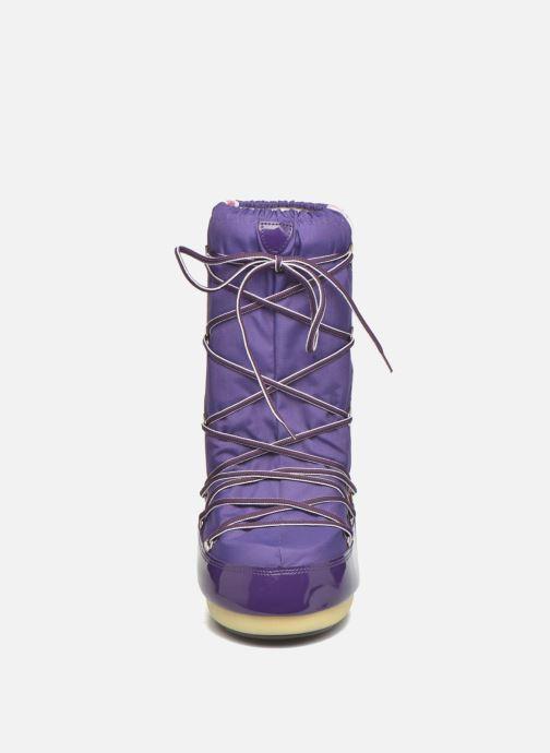 Stiefel Moon Boot Training lila schuhe getragen