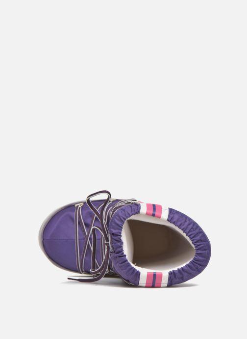 Stiefel Moon Boot Training lila ansicht von links