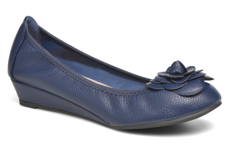 Ballerinaer Enza Nucci Emilie Blå detaljeret billede af skoene