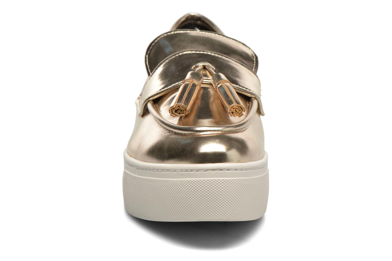 Mocassins Aldo NARCISSA Or et bronze vue portées chaussures