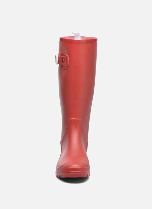 Bottes SARENZA POP OLODO Rouge vue portées chaussures