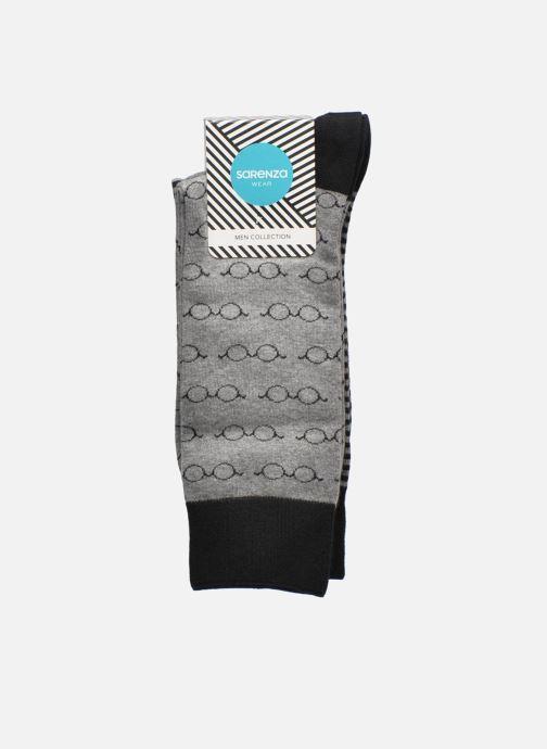 Strumpor och strumpbyxor Sarenza Wear Chaussettes Lunettes Pack de 2 Homme coton Svart bild från baksidan