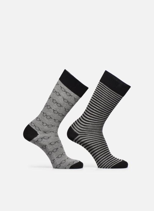 Chaussettes et collants Sarenza Wear Chaussettes Lunettes Pack de 2 Homme coton Noir vue détail/paire
