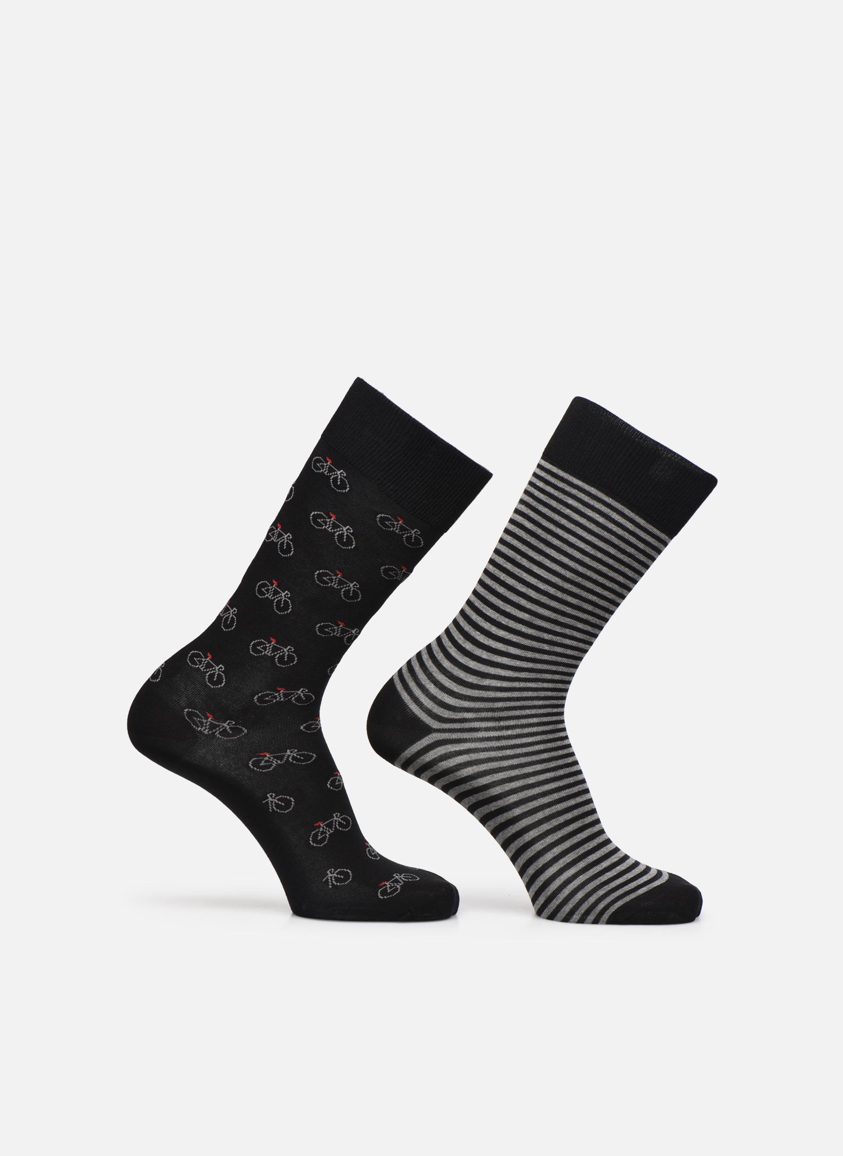 Socks & tights Accessories Chaussettes vélos Pack de 2 Homme coton