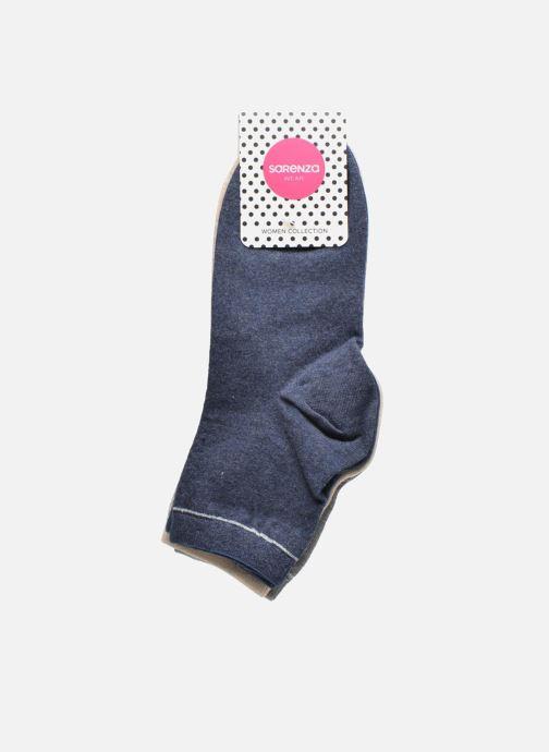 Chaussettes et collants Sarenza Wear Chaussettes unies Pack de 3 femme coton Multicolore vue derrière