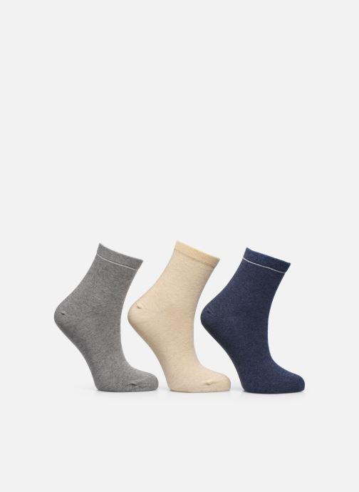 Chaussettes et collants Sarenza Wear Chaussettes unies Pack de 3 femme coton Multicolore vue détail/paire