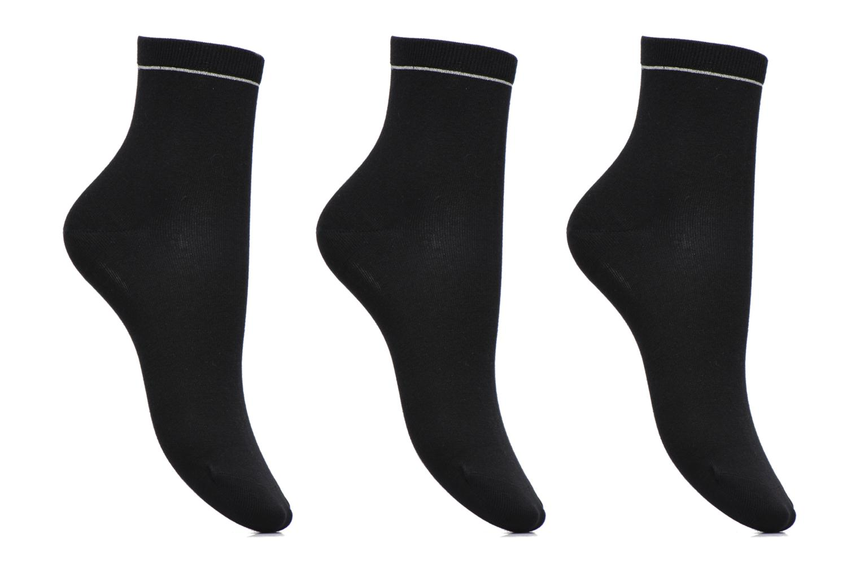 Sokken en panty's Sarenza Wear Chaussettes unies Pack de 3 femme coton Zwart detail