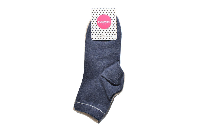 Sokken en panty's Sarenza Wear Chaussettes unies Pack de 3 femme coton Multicolor achterkant