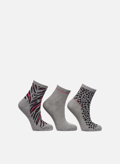 Chaussettes et collants Sarenza Wear Chaussettes motif Pack de 3 femme coton Gris vue détail/paire