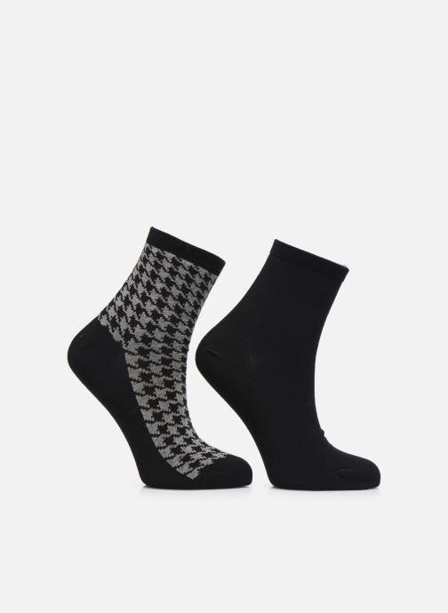 Chaussettes et collants Sarenza Wear Chaussettes motif Pack de 2 femme coton Noir vue détail/paire