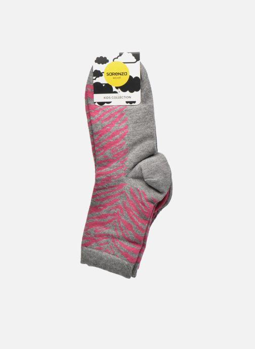 Socken & Strumpfhosen Sarenza Wear Chaussettes animal Pack de 3 enfant coton grau ansicht von hinten