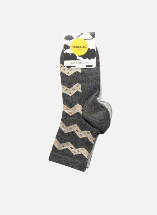 Chaussettes et collants Sarenza Wear Chaussettes lurex Pack de 3 enfant coton Gris vue portées chaussures