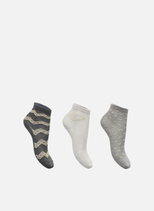 Socks & tights Sarenza Wear Chaussettes lurex Pack de 3 enfant coton Grey detailed view/ Pair view