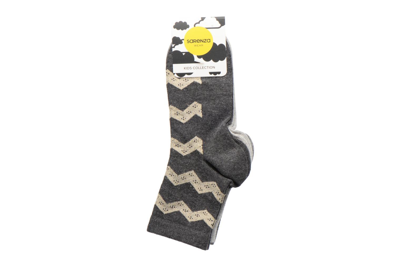 Medias y Calcetines Sarenza Wear Chaussettes lurex Pack de 3 enfant coton Gris vista del modelo