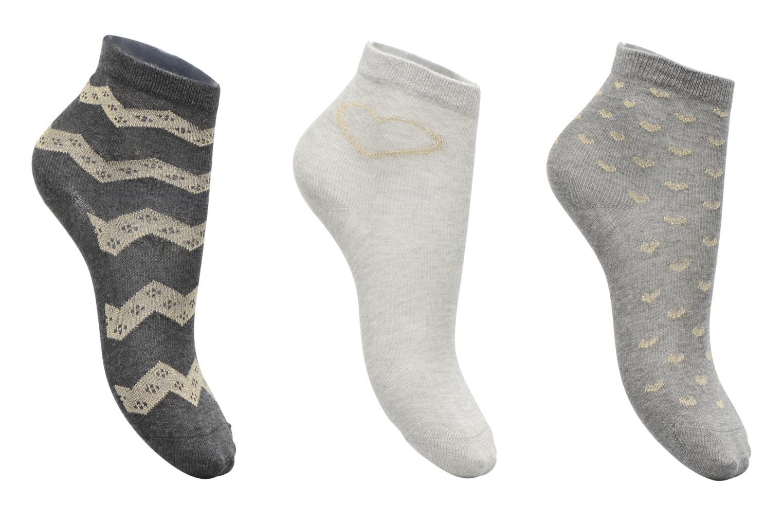 Medias y Calcetines Sarenza Wear Chaussettes lurex Pack de 3 enfant coton Gris vista de detalle / par