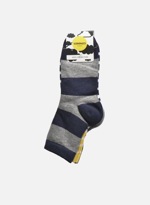 Socks & tights Sarenza Wear Chaussettes motif Pack de 3 enfant coton Blue back view