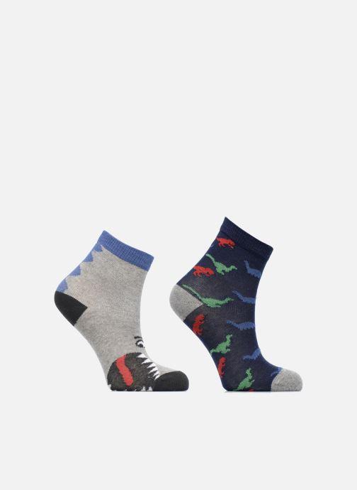 Socken & Strumpfhosen Sarenza Wear Chaussettes dinosaures Pack de 2 enfant coton blau detaillierte ansicht/modell