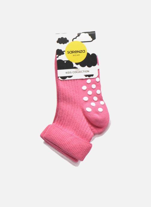 Chaussettes et collants Sarenza Wear Chaussons-chaussettes Pack de 2 bebe antiderapant Rose vue derrière