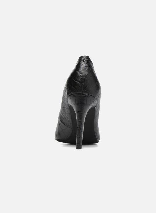 Zapatos de tacón Divine Factory Gina Negro vista lateral derecha